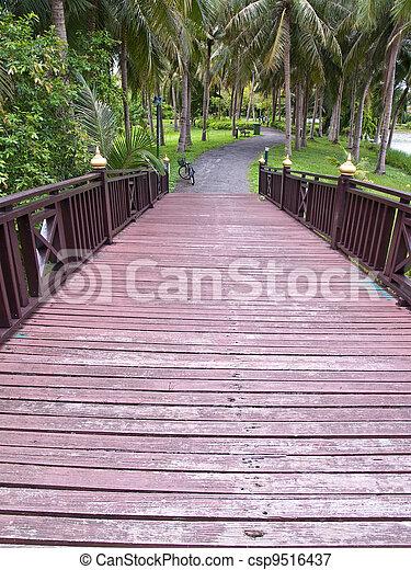 Wooden bridge - csp9516437