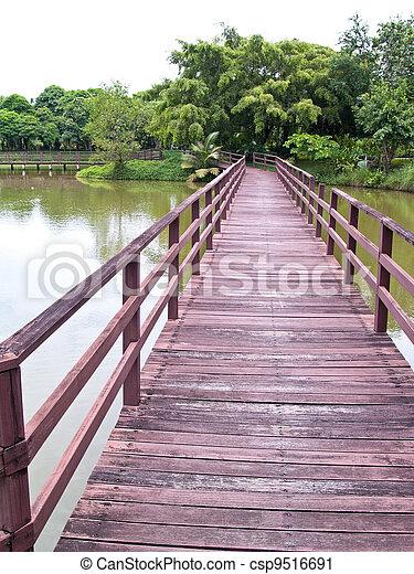 Wooden bridge - csp9516691
