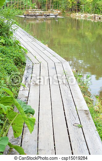 wooden bridge - csp15019284