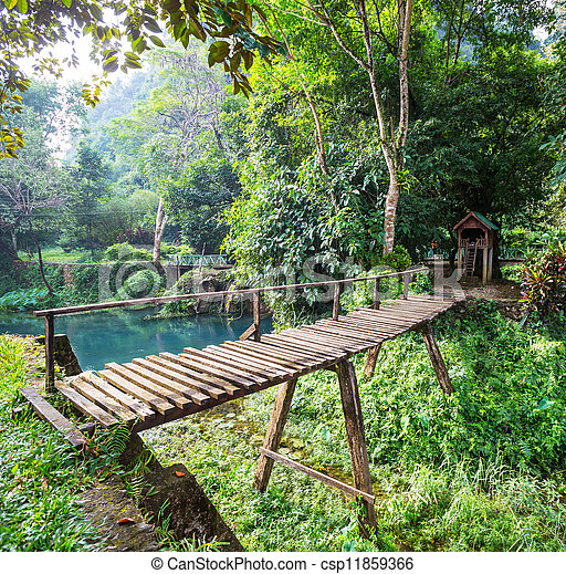 Wooden bridge - csp11859366