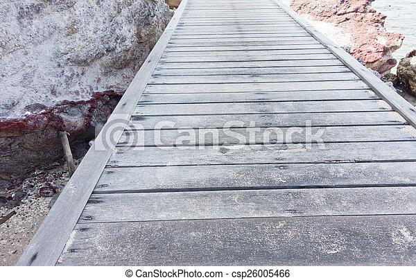 wooden bridge - csp26005466