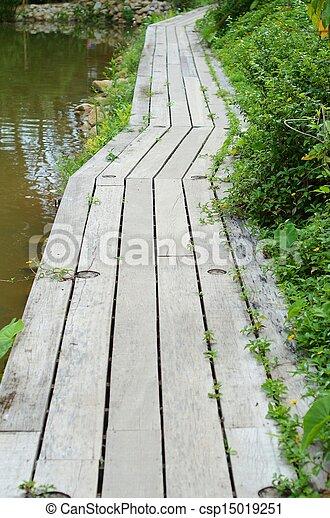 wooden bridge - csp15019251