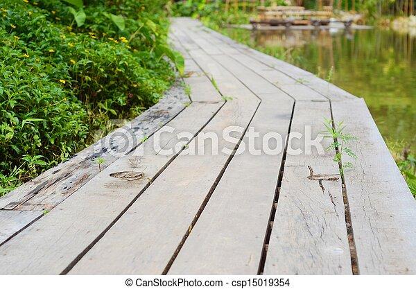 wooden bridge - csp15019354