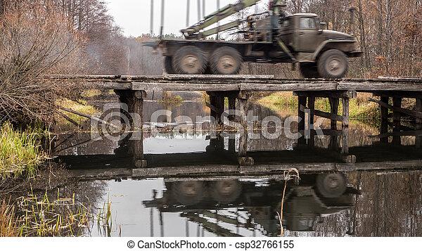 Wooden bridge - csp32766155