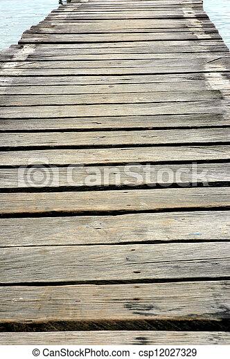wooden bridge - csp12027329