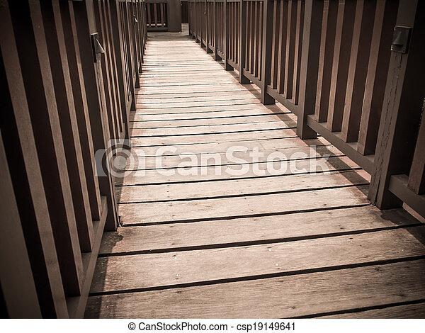Wooden Bridge - csp19149641