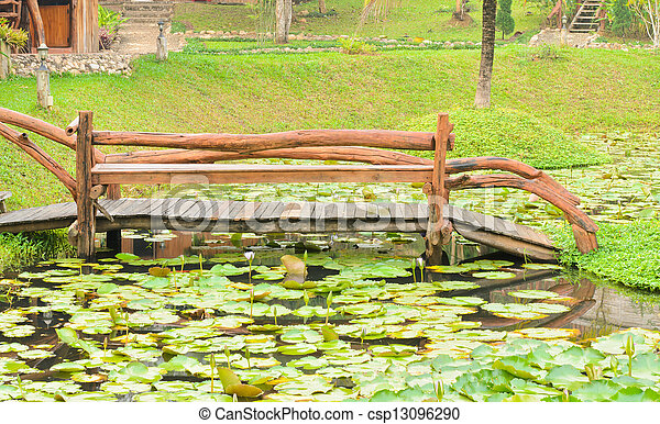 Wooden bridge - csp13096290