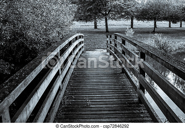 wooden bridge - csp72846292