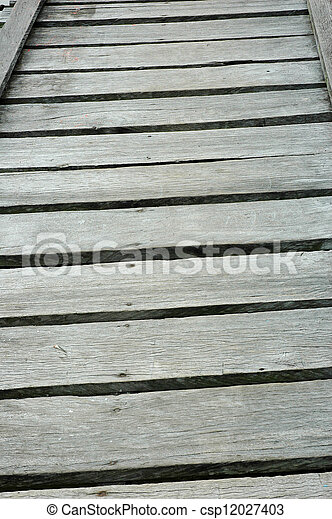 wooden bridge - csp12027403