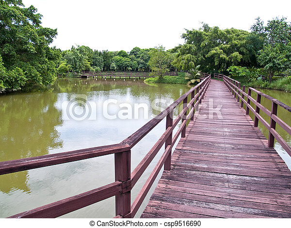 Wooden bridge - csp9516690
