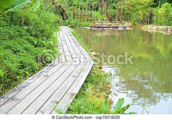 wooden bridge - csp15019330
