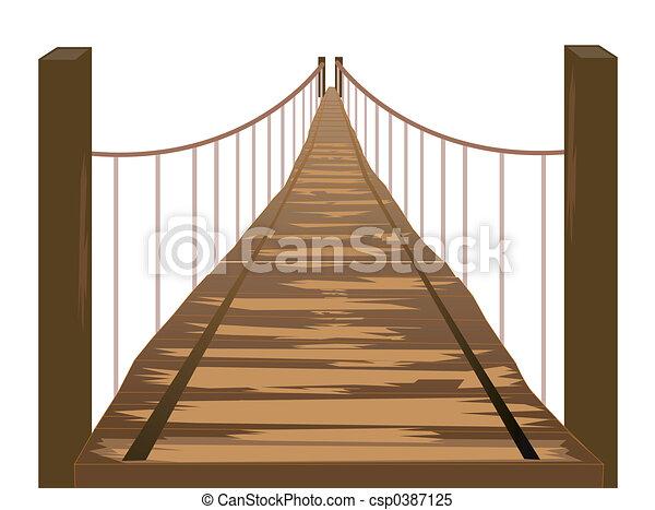 wooden bridzs - csp0387125