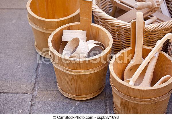 Wooden buckets - csp8371698