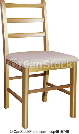 Vector Wooden Chair On White Background Eps Vectors