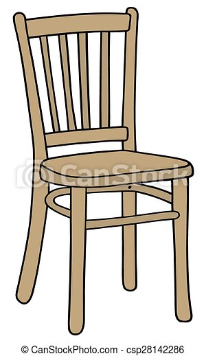 chair drawing. Modren Drawing Wooden Chair  Csp28142286 For Chair Drawing