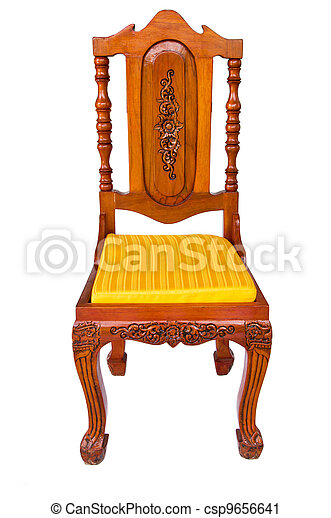 Wooden chair isolated on a white - csp9656641