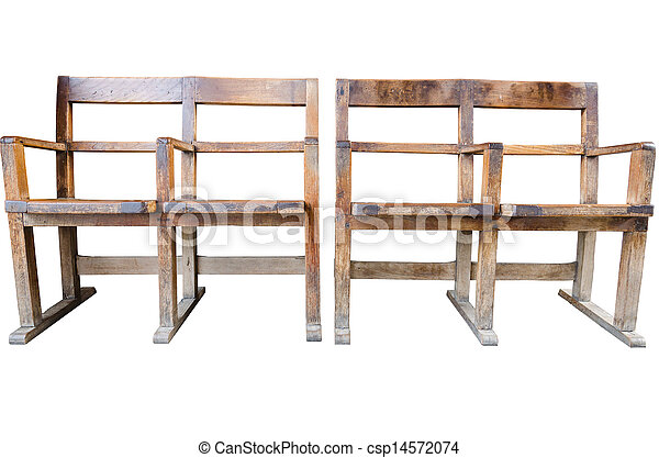 Wooden Chair isolated on white background - csp14572074