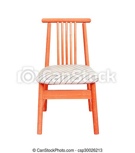 wooden chair isolated on white background. - csp30026213