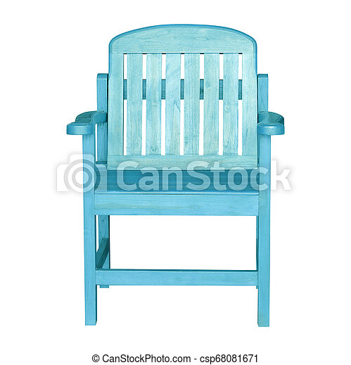 Wooden chair isolated on white background - csp68081671