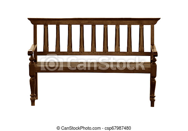 Wooden chair isolated on white background - csp67987480