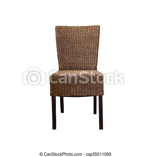 Wooden chair, isolated on white background - csp35011069