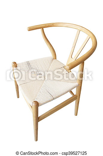 Wooden chair isolated on white background - csp39527125