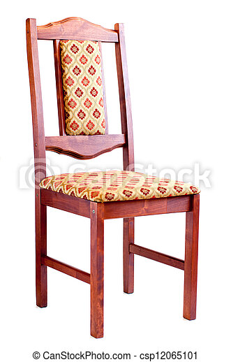 Wooden chair. Isolated on white background - csp12065101