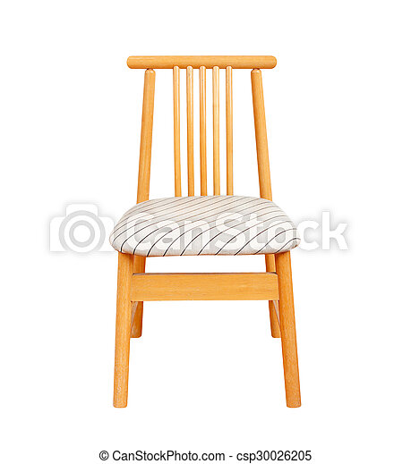 wooden chair isolated on white background. - csp30026205