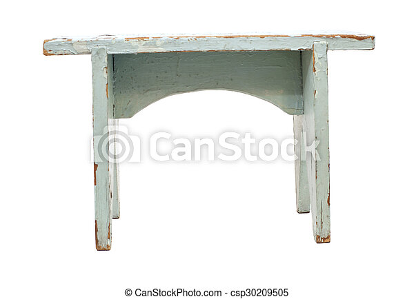 Wooden chair isolated on white background - csp30209505