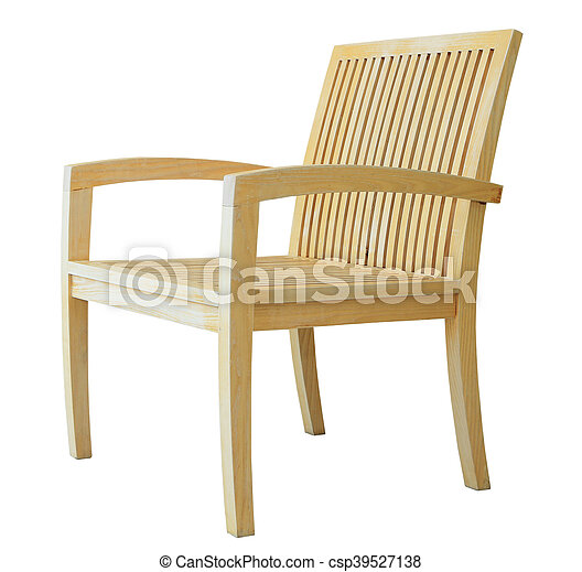 Wooden chair isolated on white background - csp39527138