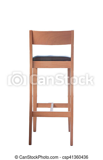 Wooden chair isolated on white background - csp41360436