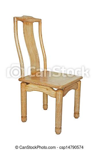 Wooden chair - csp14790574