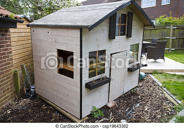 Wooden Childrens Garden Playhouse Or Shed Normal Family Garden With