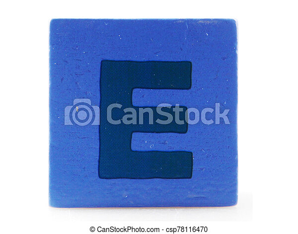 Wooden Children's Toy Alphabet Blocks On White Background - csp78116470