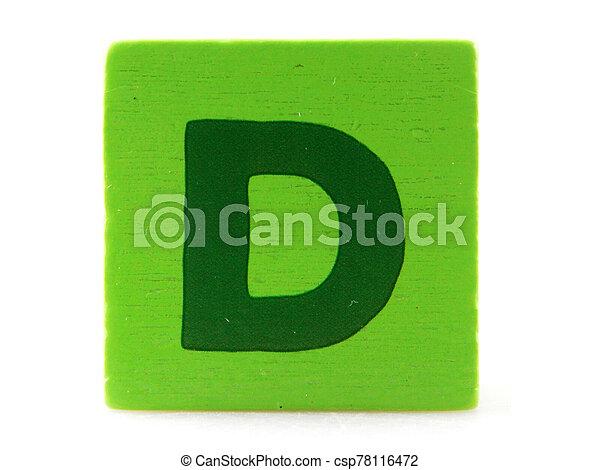 Wooden Children's Toy Alphabet Blocks On White Background - csp78116472