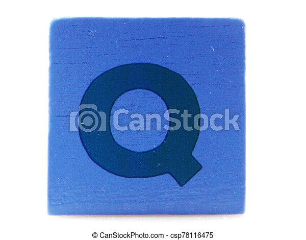 Wooden Children's Toy Alphabet Blocks On White Background - csp78116475