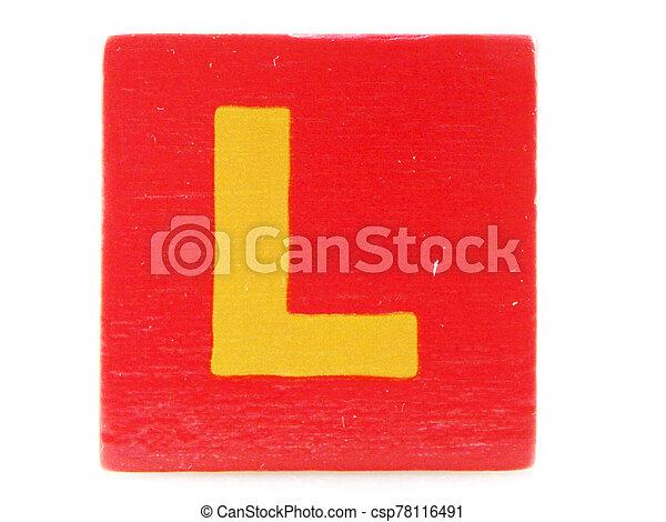 Wooden Children's Toy Alphabet Blocks On White Background - csp78116491