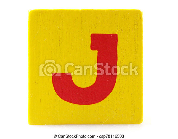 Wooden Children's Toy Alphabet Blocks On White Background - csp78116503