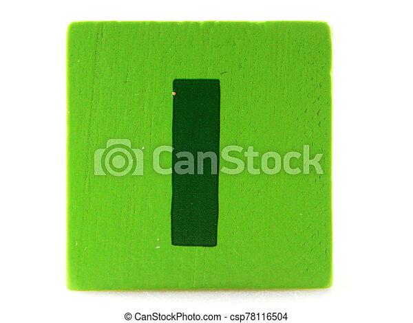 Wooden Children's Toy Alphabet Blocks On White Background - csp78116504