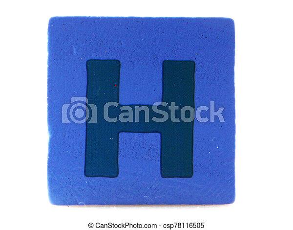 Wooden Children's Toy Alphabet Blocks On White Background - csp78116505