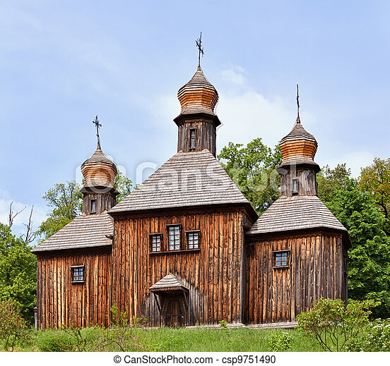 Wooden Christian Orthodox Church - csp9751490