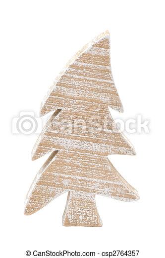 wooden christmastree - csp2764357