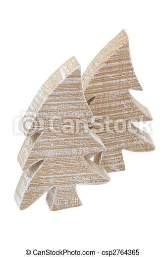 wooden christmastree - csp2764365