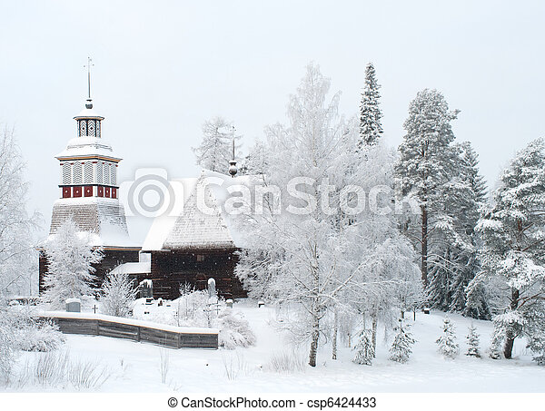 Wooden church in Finland - csp6424433