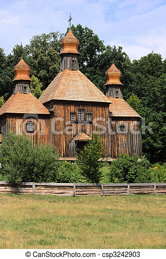 Wooden Church In Pirogovo - csp3242903