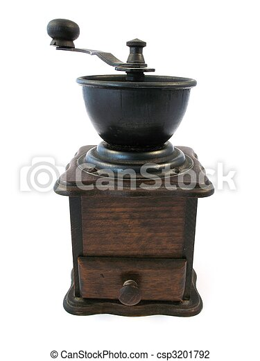 wooden coffee grinder - csp3201792