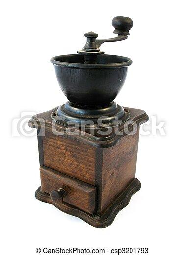 wooden coffee grinder - csp3201793