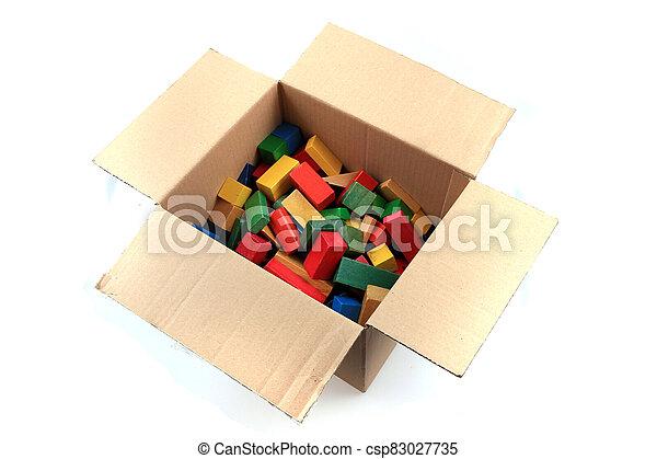 wooden color 3d shapes toys - csp83027735