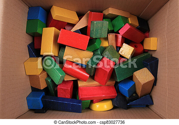 wooden color 3d shapes toys - csp83027736