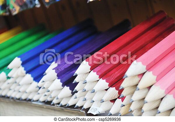 wooden colored pencil - csp5269936
